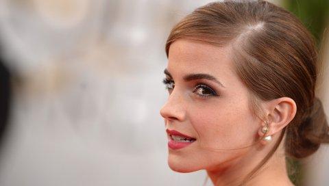 Emma watson, девушка, актриса, лицо, макияж