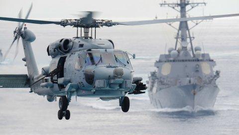 Sikorsky sh-60f, морской охотник, вертолет