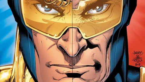 Бустерное золото, DC комиксы, супергероя, лицо, очки