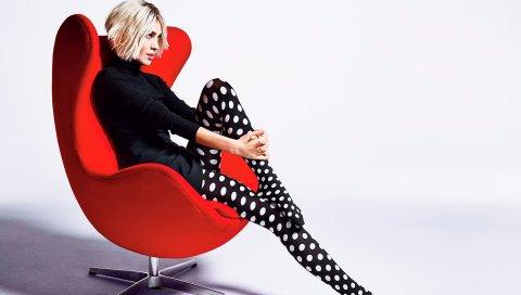 Alexa chung, модель, фотосессия, стул, стиль