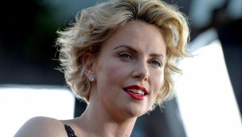 шарлиз Терон, блондинка, актриса, макияж
