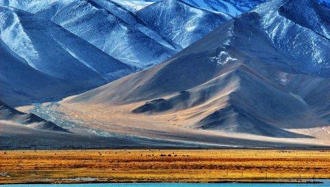 Памир, таджикистан, гора, озеро