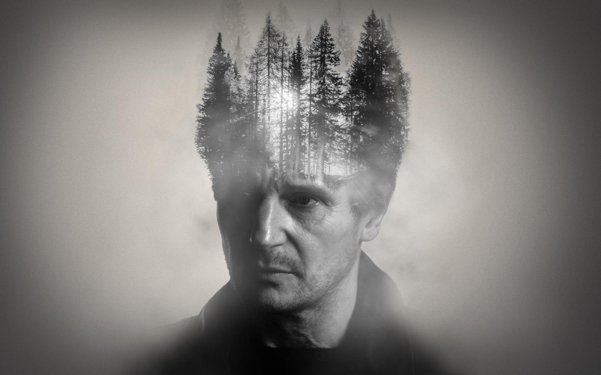Картинки Liam neeson, двойное воздействие, лес, мудрый фото и обои на рабочий стол