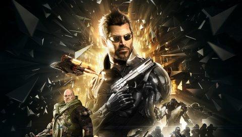 Deus Ex, человечество делится, адам Йенсен, киборги