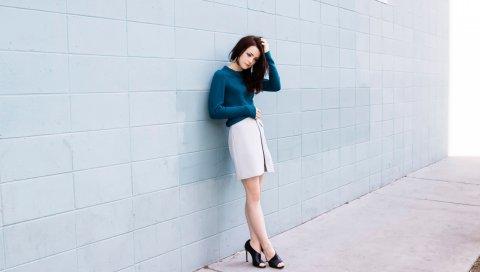 Kathryn prescott, актриса, фотосессия, модель, стена, стиль
