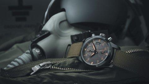 Часы, шлем, пилот, военный, экипировка