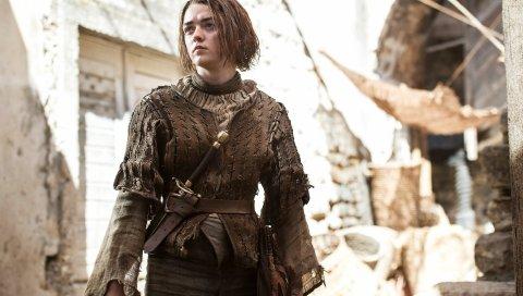 Arya stark, игра тронов, maisie williams