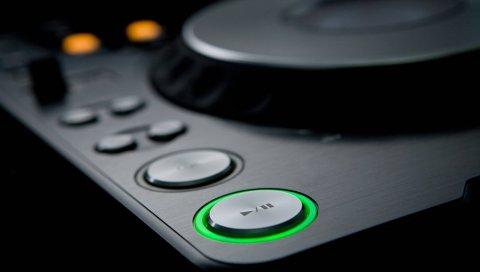 DJ, микшеров, кнопки, подсветка