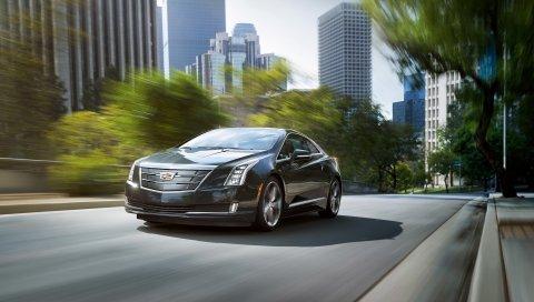 Cadillac, elr, скорость, движение