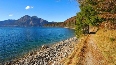 Бавария, германия, озеро
