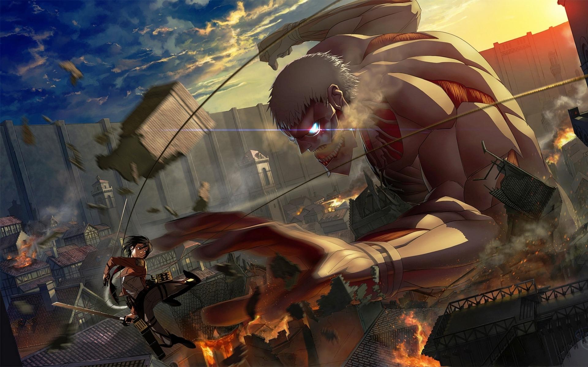 Картинки Mikasa ackerman, shingeki no kyojin, битва фото и обои на рабочий стол