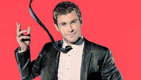 Chris hemsworth, актер, куртка, галстук, фотосессия, snl