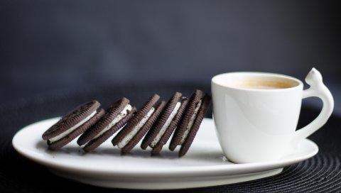 Печенье, кофе, завтрак