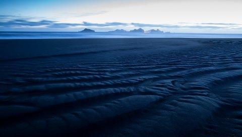 Море, горизонт, песок, пляж