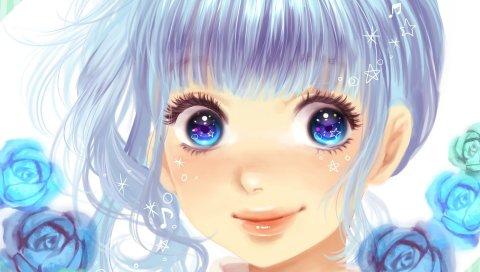 Минами харуя, hatsune miku, вокалоид, девушка, улыбка, заметки