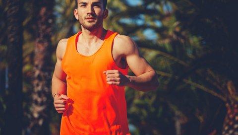 Мужчина, легкоатлет, бег, спорт