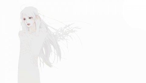 Призрак, аниме, девушка, искусство