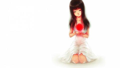 Молиться за Японию, искусство, девушка, аниме