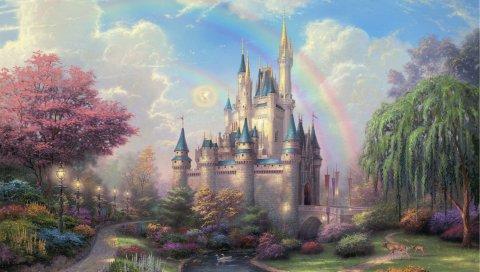 Диснейленд, парк, искусство, фея, живопись