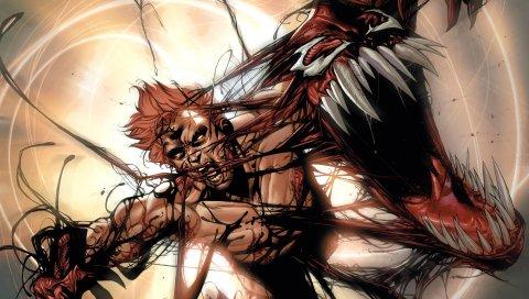 бойня, суперзлодей, Marvel Comics, искусство