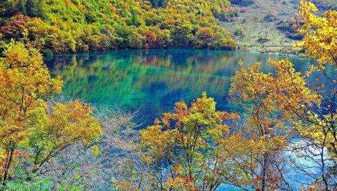 кристаллического бирюзовые озера, Цзючжайгоу национальный парк, Китай