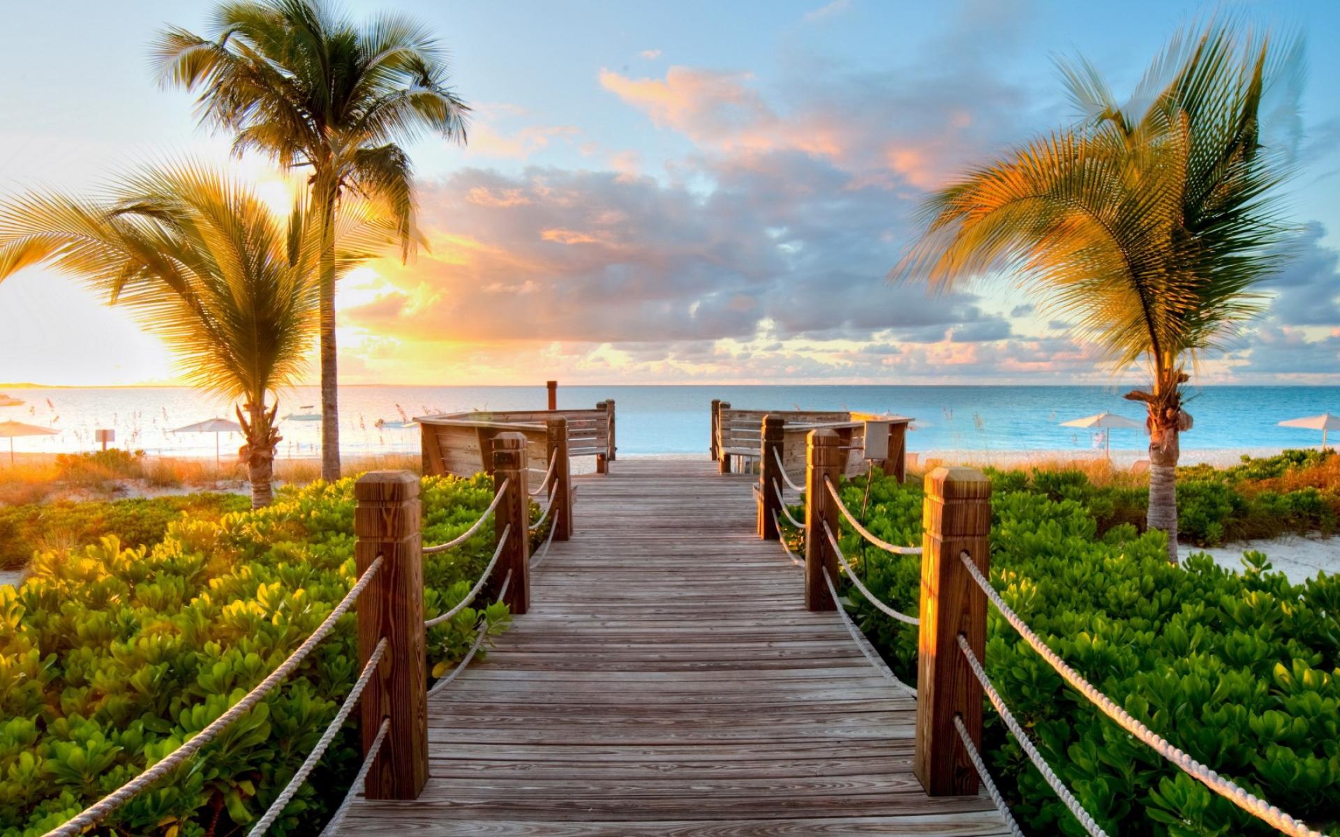 лето, шезлонг, Пальмы, пляж, обои, песок, багамы, океан, навес ... | 1200x1920