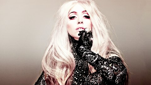 Леди гага, певец, стиль, блондинка