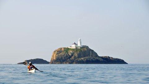 Епископский рок, самый маленький остров, архипелаг, скулы, cornwall