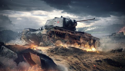 Мир танков блиц, wargaming net, kv-1, ussr
