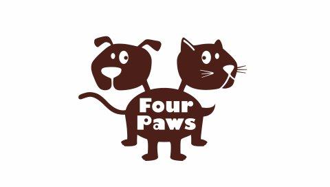 Четыре лапы, логотип, товары для животных, искусство
