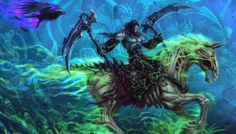 Darksiders ii, искусство, лошадь, герой