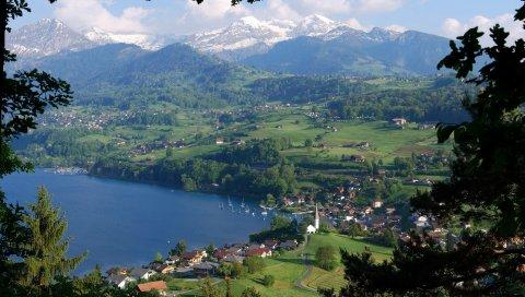Берн, швейцария, столица, земля берн-миттель, альпы, аар