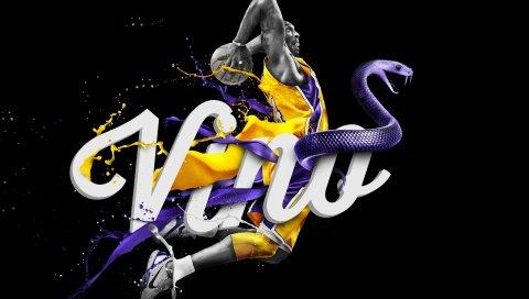 Лос -Анджелес Лейкерс , нб, Коб Брайант, логотип, баскетбол