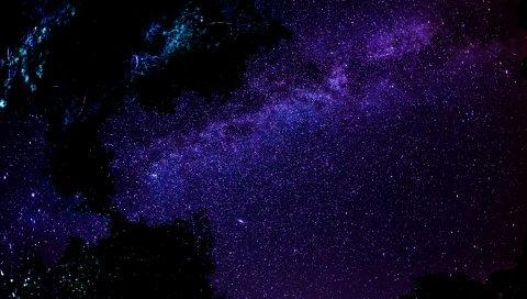 Млечный путь, звезды, ночь, небо, космос