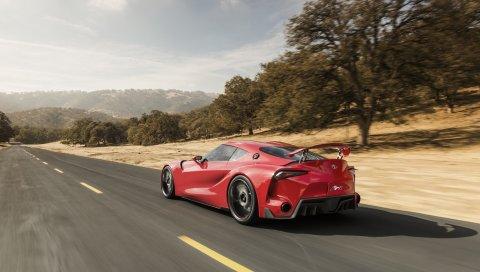 Toyota, ft-1, концепция, автомобиль, скорость, вид сбоку