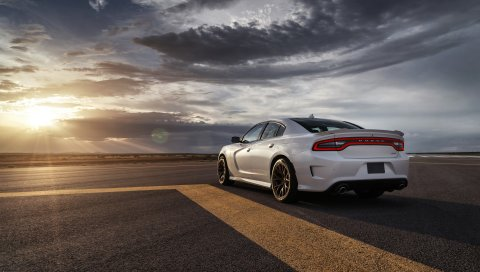 Dodge, charger, srt, hellcat, 2015, автомобили, дорога