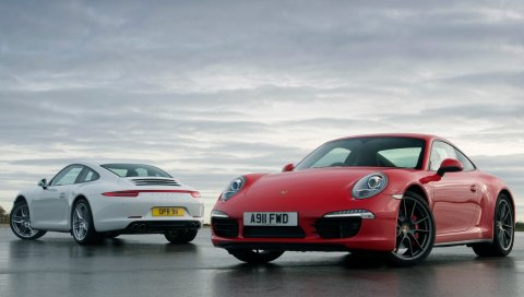 Porsche, 911, carrera, 991, белый