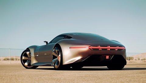 мерседес-бенз, АМГ видение, Gran Turismo, серебро Штюрмера