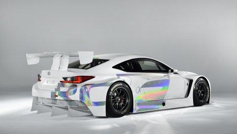 Lexus, rc-f, gt3, rc, концепция, белый, настройка