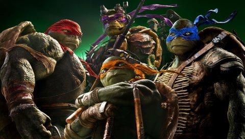 Подростковые мутантные черепахи ниндзя, 2014 год, новизна, измельчитель, клан ног, леонардо, raphael, michelangelo
