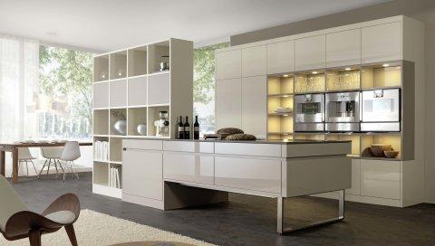 Кухня, столовая, мебель, интерьер, хай-тек