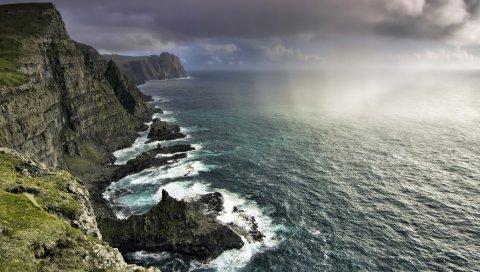 Фарерских островов, океан , скалы, побережье