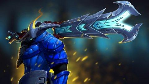 Свен, яростный руна меч, DotA 2, искусство