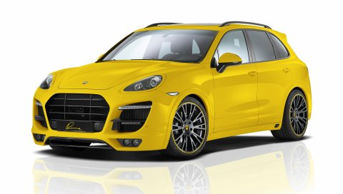 Porsche, желтый, PORSCHE CAYENNE, дизайн Lumma
