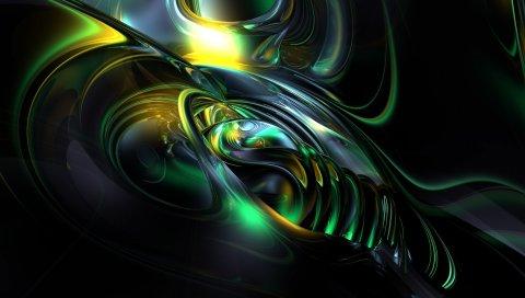 картина, абстрактная, темная, сплав