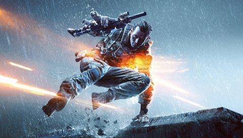 поле боя 4, BF4, солдаты, оружие, пистолет, автомат, дождь, оборудование, бронежилеты, перчатки, прыгать, огни, EA Digital Illusions CE, электронные искусства, кости