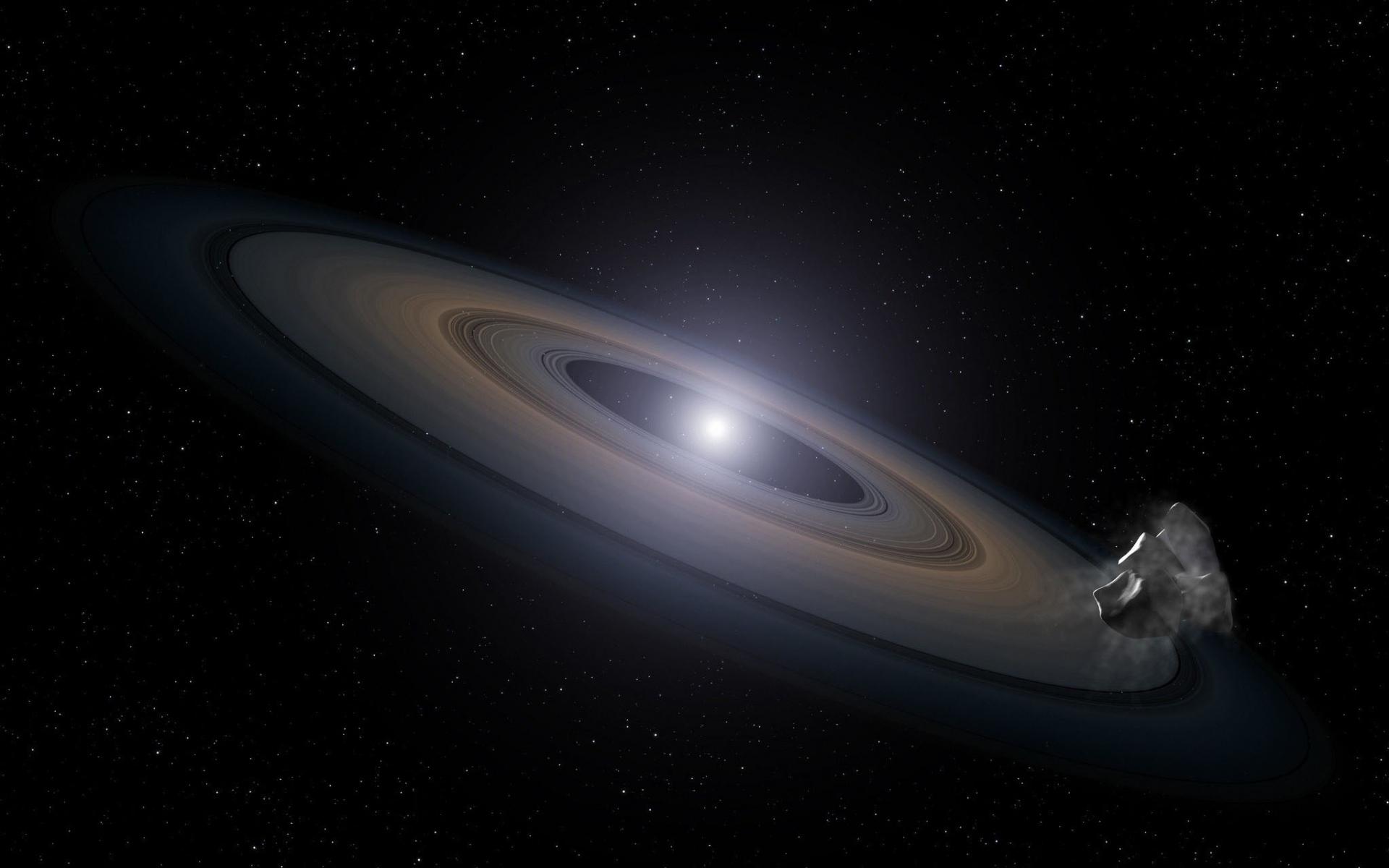 Картинки звезда, кольцо, астероид, звезды, космос, галактики фото и обои на рабочий стол