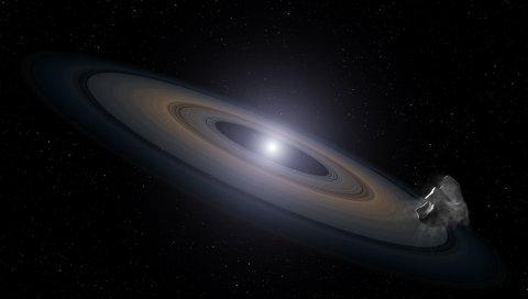 звезда, кольцо, астероид, звезды, космос, галактики