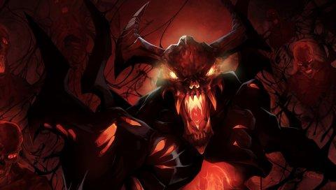 Nevermore, тень изверг, DOTA 2, искусство