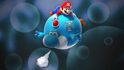 Super Mario Galaxy 2, игра, 3D, искусство